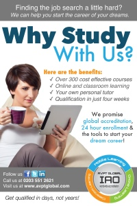 Why Study With Us Unemployed Poster