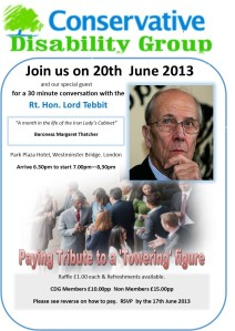 CDG INVITATION 20TH JUNE 2013 LORD TEBBIT