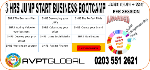 3 HR JUMP START BUSINESS BOOTCAMP WITH GEWUK 18 NOV 2013