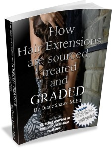 How hair extensions are sourced treated and graded by diane shawe M.Ed 2014 price