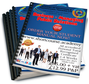 Business Managing public relations home study course
