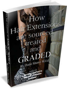 How hair extensions are sourced, treated and graded by Diane Shawe 2014