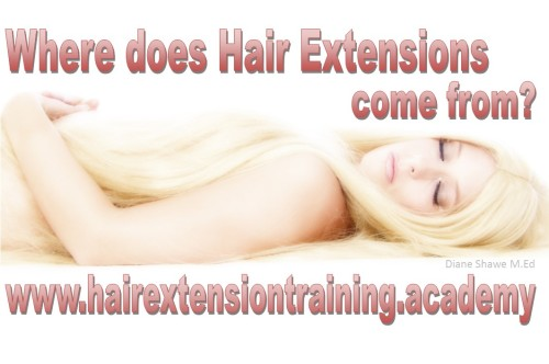 where does hair extensions come from by diane shawe