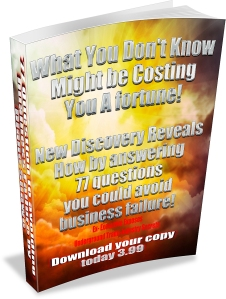 77 Questions to avoid business failure by Diane Shawe white background