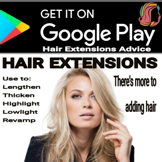 Google play hair extensions advice app