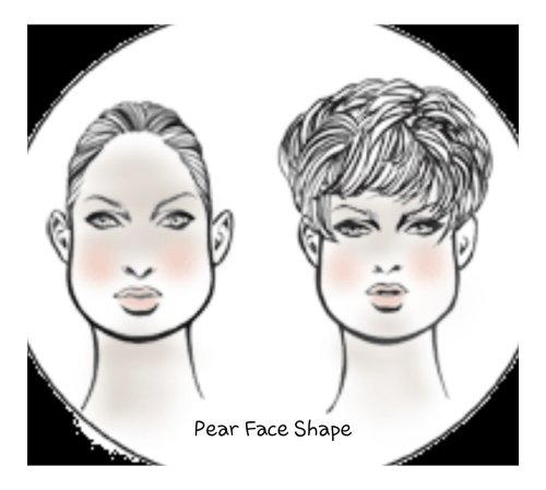Pear Face shape for hair extensions