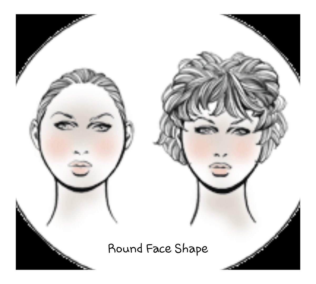 Round Face shape for hair extensions