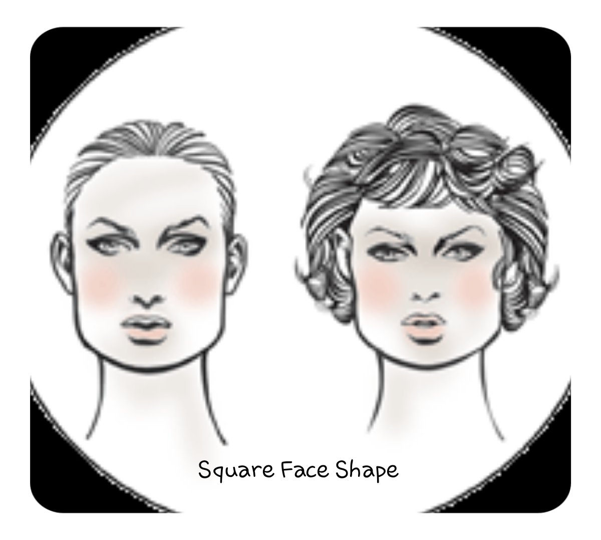 Square Face shape for hair extensions