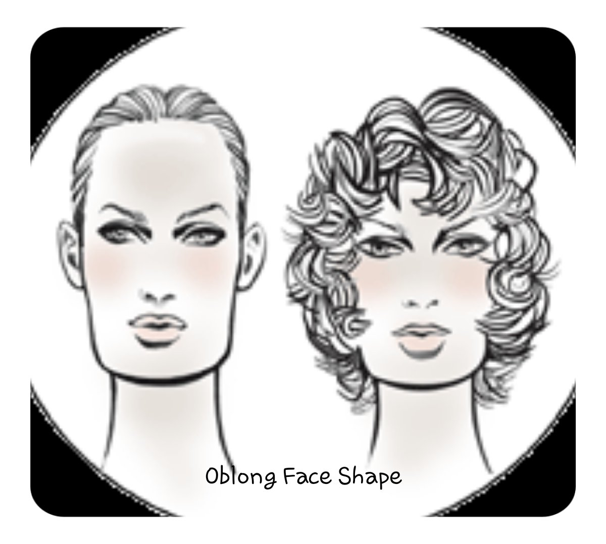 Oblong Face shape for hair extension
