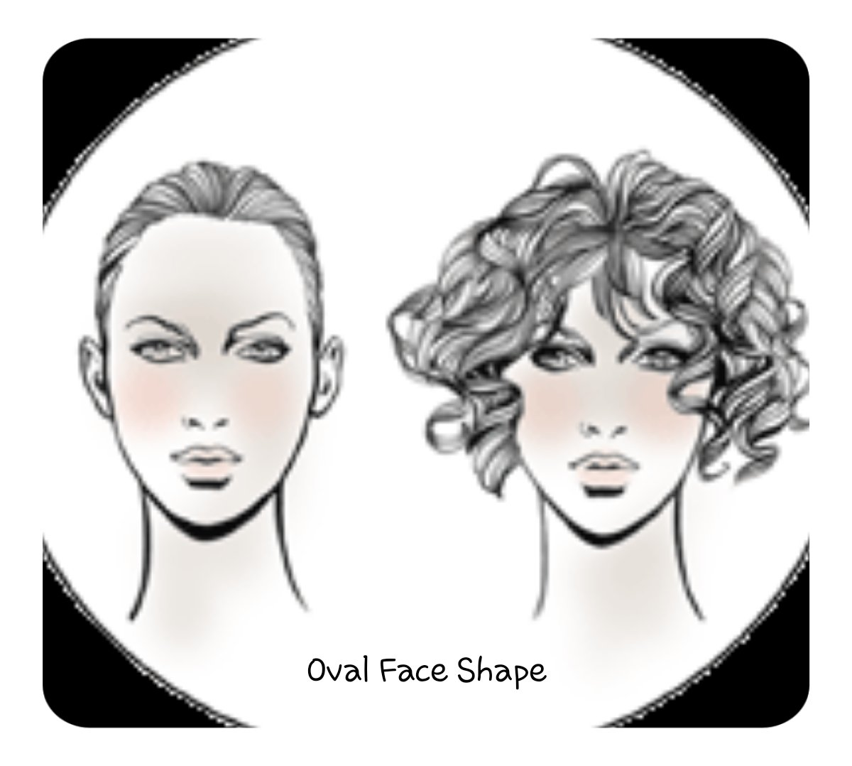 Oval Face shape for hair extensions