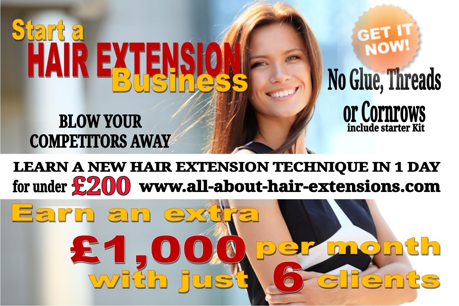 Start and launch a hair extensions career today