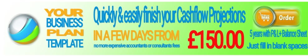Order your Cashflow Template today